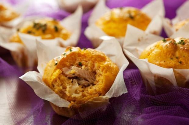 Muffin de Abóbora com Sardinha
