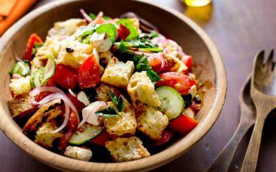 Salada de pão italiano